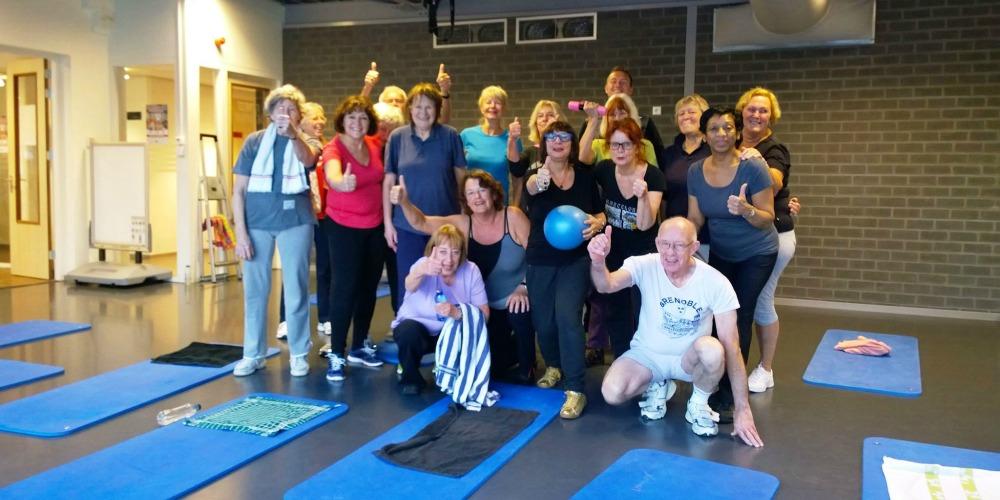 50 Plus Fitnessgroep bij Fitness de Bataaf.
